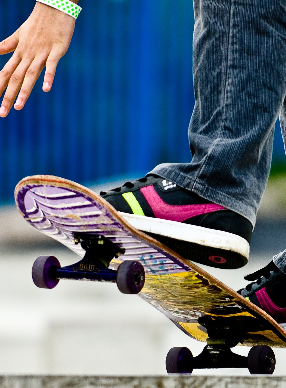 Victor Williams has been skateboarding since he was eight (Daniel Law/PA)