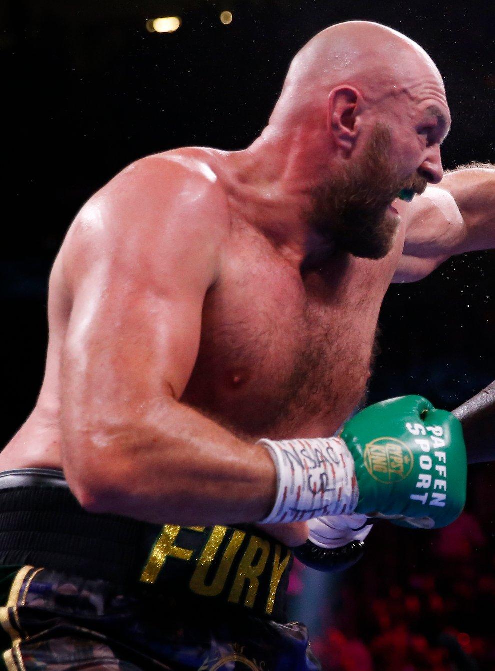 Tyson Fury (left) knocked out Deontay Wilder in Las Vegas (Chase Stevens/AP)